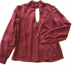 Tops - Blouse in Burgundy Red Color